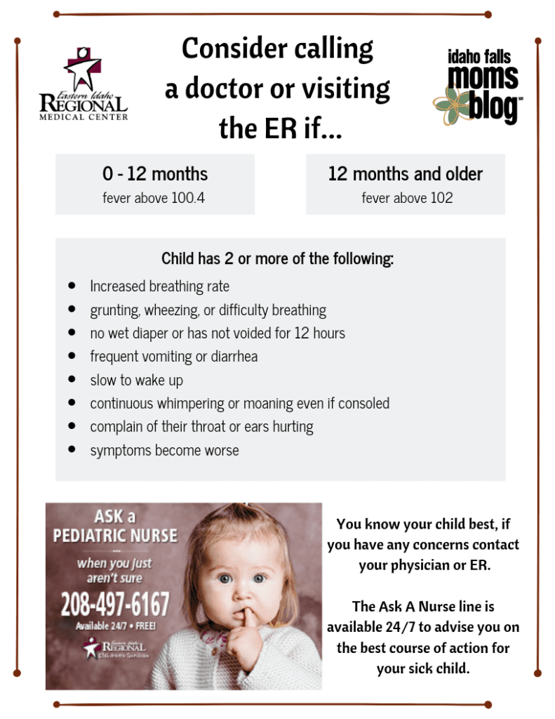 Should We Call A Doctor or Visit the ER? - Printable Resource!
